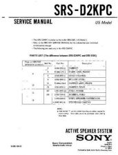 Buy Sony SRS-D313 Service Manual. by download Mauritron #244574