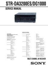 Buy SONY STR-DA3200ES SERVICE INFORMATION Manual by download Mauritron #230463