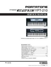 Buy Yamaha PSRE213 YPT210 OV E Manual by download Mauritron #259108