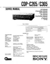Buy Sony CDP-C250ZC350ZCE305CE405 Service Manual by download Mauritron #237265