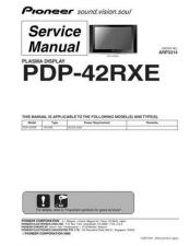 Buy Pioneer PDP-42MXE10-YVXK5 (2) Service Manual by download Mauritron #234874