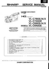 Buy SHARP VLC6400E CAMCORDER SERVICE MANUAL by download #109281