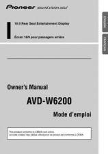 Buy Pioneer 206344532AVDW6200 OwnersManual by download Mauritron #223275