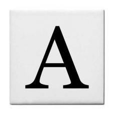Buy Letter A Alphabet Georgia Font Ceramic Tile