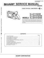 Buy Sharp VLAH150 160 Service Manual by download Mauritron #210725