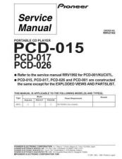 Buy Pioneer PCD-026 Service Manual by download Mauritron #234656