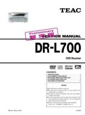 Buy Teac DR-L700 temp Service Manual by download Mauritron #223660