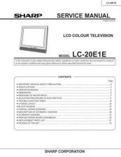 Buy Sharp LC20E1H-M Service Manual by download Mauritron #209908