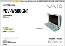 Buy Sony PCV-W Series (17inch).. Service Manual. by download Mauritron #243489