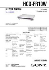 Buy Sony HCD-FR1-FR8-FR9 Service Manual by download Mauritron #232023