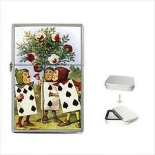 Buy Alice In Wonderland Art Flip Top Cigarette Lighter Painting The Roses Red