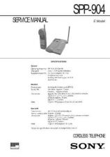 Buy SONY SPP-AQ600 Technical Info by download #105222