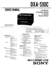 Buy Sony DXA-S90C Service Manual by download Mauritron #231960