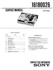 Buy Sony 16180026 Service Manual by download Mauritron #236707