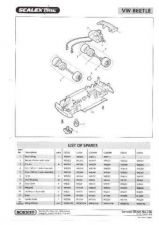 Buy Scalextrix No.336 VW Beetle Service Sheets by download Mauritron #206432
