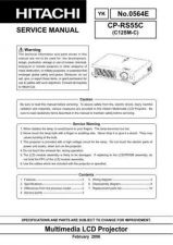 Buy Hitachi CPSX5500M13 Service Manual by download Mauritron #260970