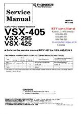 Buy PIONEER VSX405 VSX295 VSX425 RRV1598 Technical Information by download #119383