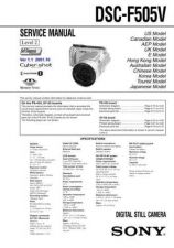 Buy Sony DSC-F828_Level2 Service Manual by download Mauritron #240183