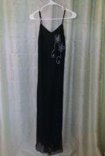 Buy Women's Hokus Pokus Long Black Dress With Spaghetti Straps Size Smal