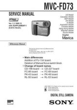 Buy Sony MVC-FD71 Service Manual. by download Mauritron #243006