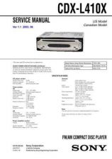 Buy Sony CDX-L380X Service Manual by download Mauritron #238599