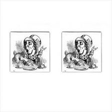 Buy Mad Hatter Alice In Wonderland Mens Square Cufflinks