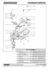 Buy Scalextrix No.394B Checrolet Corvette Service Sheets by download Mauritron #206