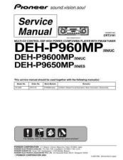 Buy Pioneer DEH-P9600MP Service Manual by download Mauritron #233881