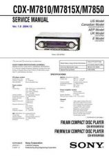 Buy Sony CDXM7810 Service Manual by download Mauritron #238612