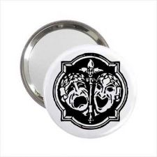 Buy Comedy Tragedy Theater Masks Round New Mini Purse Mirror