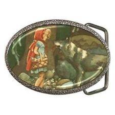 Buy Little Red Riding Hood Meets Wolf Art Unisex Belt Buckle