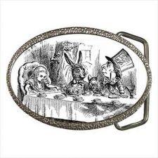Buy Mad Hatter March Hare Alice In Wonderland Belt Buckle