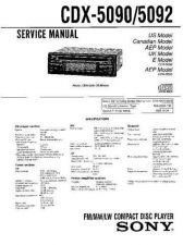 Buy Sony CDX-5090-5092Service Manual by download Mauritron #237479
