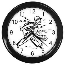 Buy Electrician Man Cable Guy Wall Clock