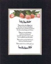 Buy Poem For Mothers - To My Other Mom (from Son-in-Law) 11x14 DoubleMatting