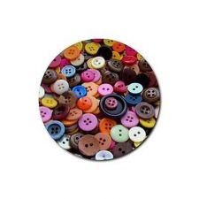 Buy Buttons Sewing Notions Set Of 4 Round Rubber Drink Coasters