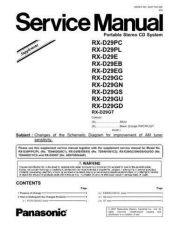 Buy Panasonic RX-M70M3GC RX-M70M3GU RX-M70M3GS RX-M70M3GS1 by download Mauritron #268570