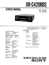Buy Sony XR-C420RDS Service Manual by download Mauritron #233516