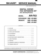 Buy Sharp ARFX5 Service Manual by download Mauritron #208295