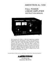Buy AMERITRON AL1200J INSTRUCTIONS by download #117137