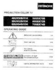 Buy Hitachi 46UX50B Service Manual by download Mauritron #224157