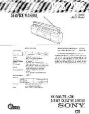 Buy Sony CFS-219 Service Manual by download Mauritron #238919