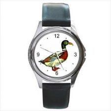 Buy Mallard Duck Art Unisex Round Wrist Watch