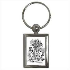 Buy Alice In Wonderland Queen Of Hearts Cards Key Chain