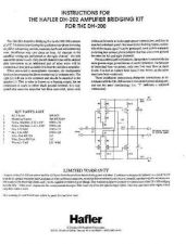 Buy HAFLER DH-202 PC-7 BRIDGEKIT Manual by download Mauritron #230007