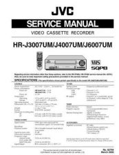 Buy JVC HR-J3007 4007 6007 SERVICE MANUAL by download Mauritron #220219