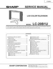 Buy Sharp LC20B1U Service Manual by download Mauritron #209003