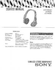 Buy Sony MDR-IF510 Service Manual by download Mauritron #232201