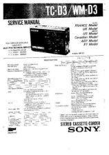 Buy SONY TCD-3 TECHNICAL I by download #107208