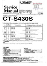 Buy PIONEER CTS430S RRV1123 Technical Information by download #119215